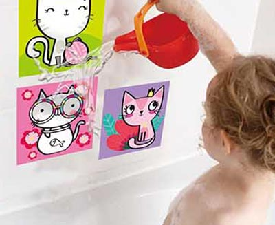 Color Appearing Tiles Stickers
