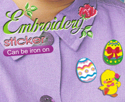 Embroidery Stickers (E)