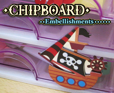 3D Chipboard Stickers