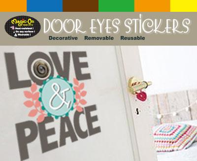 Door Eyes Stickers