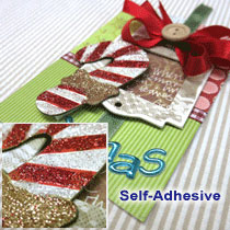 Chipboard Glitter Stickers
